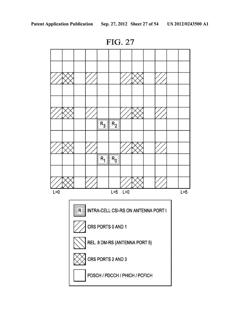 Multi-Cell Channel State Information-Reference Symbol Patterns for Long     Term Evolution Extended Cyclic Prefix and Code Division Multiplexing-Time     Multiplexing - diagram, schematic, and image 28