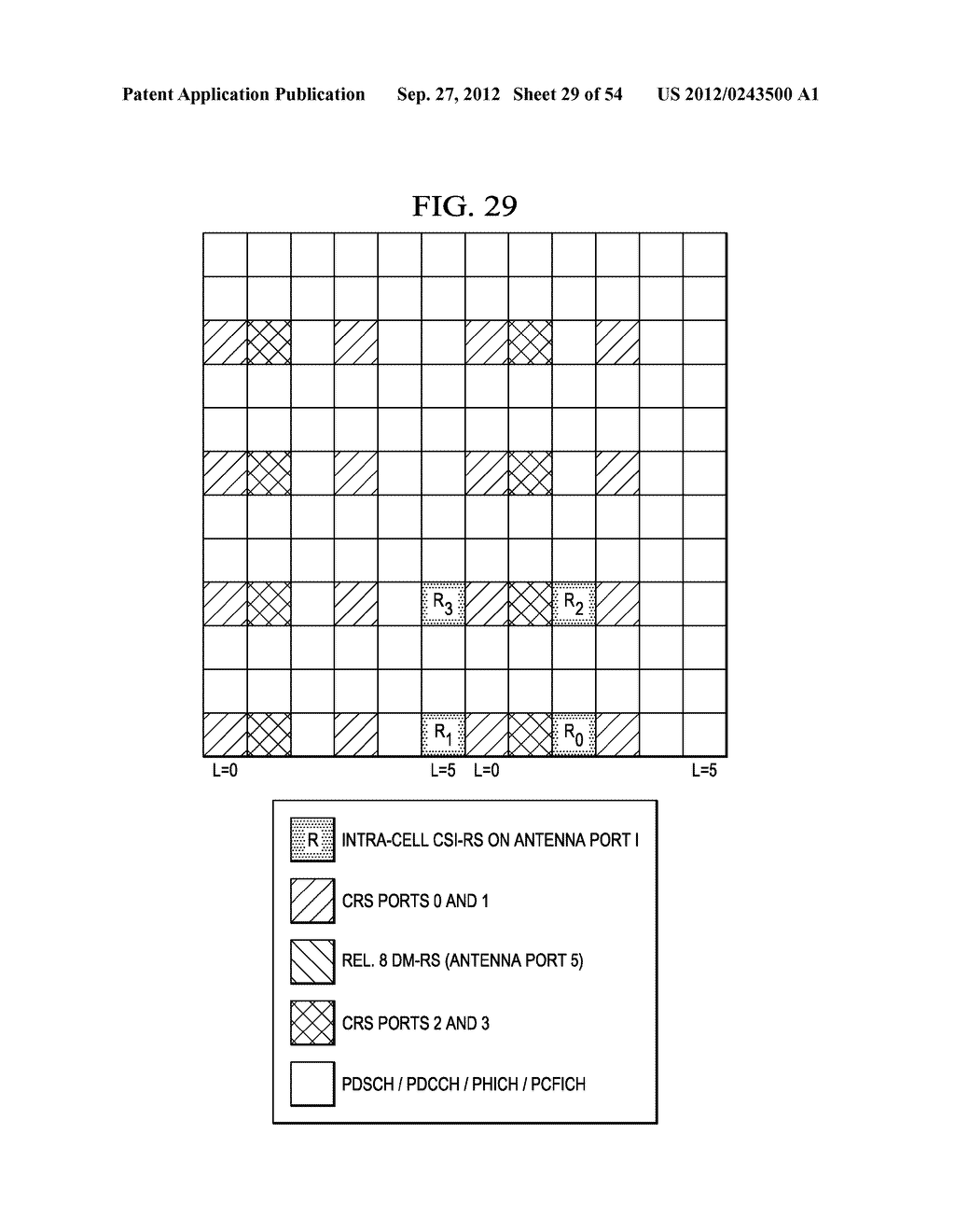 Multi-Cell Channel State Information-Reference Symbol Patterns for Long     Term Evolution Extended Cyclic Prefix and Code Division Multiplexing-Time     Multiplexing - diagram, schematic, and image 30