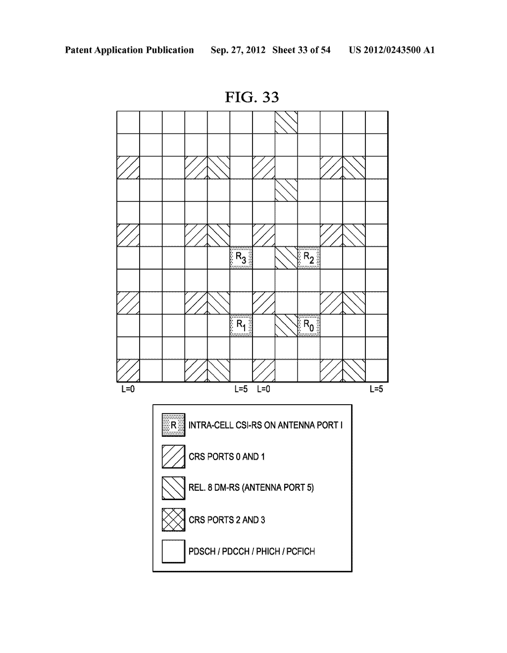Multi-Cell Channel State Information-Reference Symbol Patterns for Long     Term Evolution Extended Cyclic Prefix and Code Division Multiplexing-Time     Multiplexing - diagram, schematic, and image 34