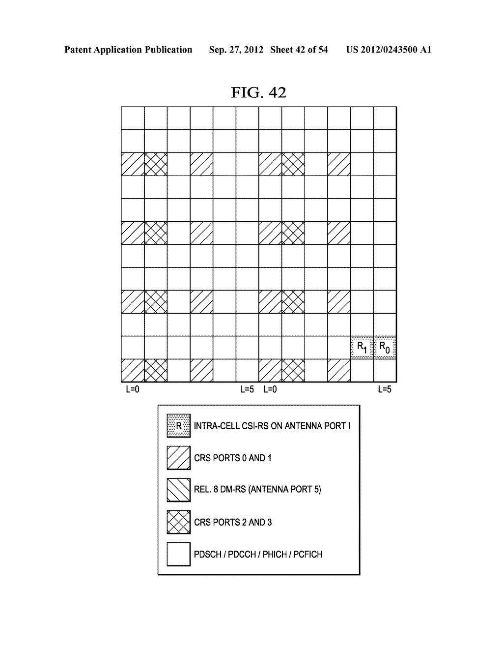 Multi-Cell Channel State Information-Reference Symbol Patterns for Long     Term Evolution Extended Cyclic Prefix and Code Division Multiplexing-Time     Multiplexing - diagram, schematic, and image 43