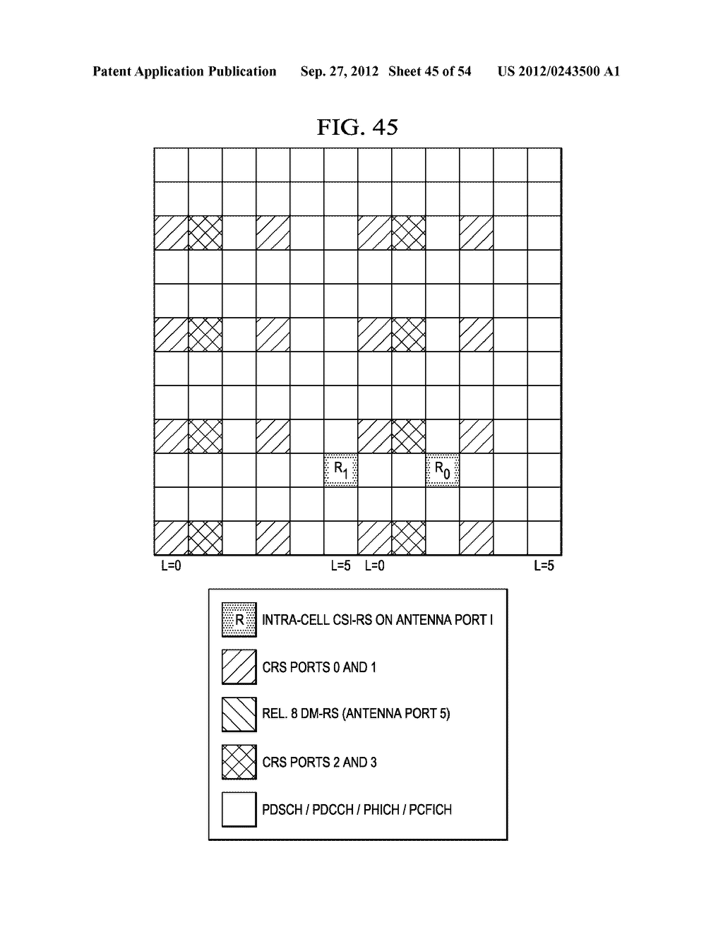 Multi-Cell Channel State Information-Reference Symbol Patterns for Long     Term Evolution Extended Cyclic Prefix and Code Division Multiplexing-Time     Multiplexing - diagram, schematic, and image 46