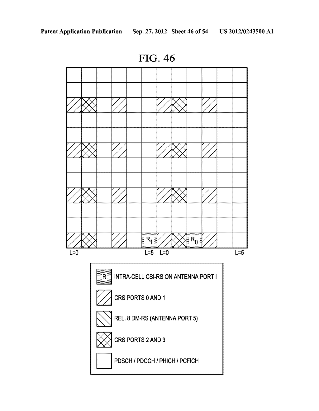 Multi-Cell Channel State Information-Reference Symbol Patterns for Long     Term Evolution Extended Cyclic Prefix and Code Division Multiplexing-Time     Multiplexing - diagram, schematic, and image 47