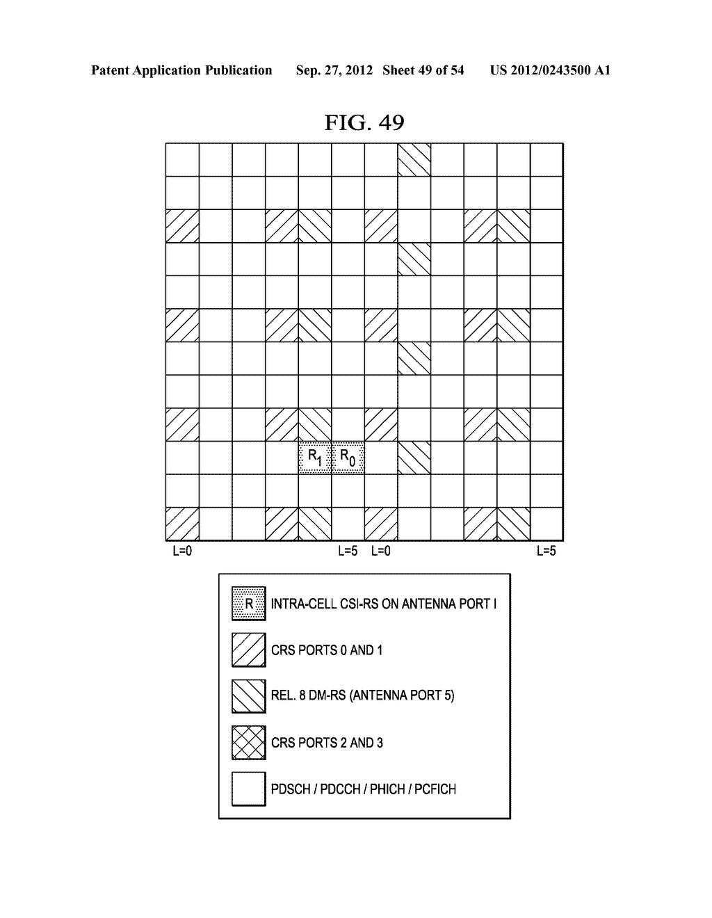 Multi-Cell Channel State Information-Reference Symbol Patterns for Long     Term Evolution Extended Cyclic Prefix and Code Division Multiplexing-Time     Multiplexing - diagram, schematic, and image 50