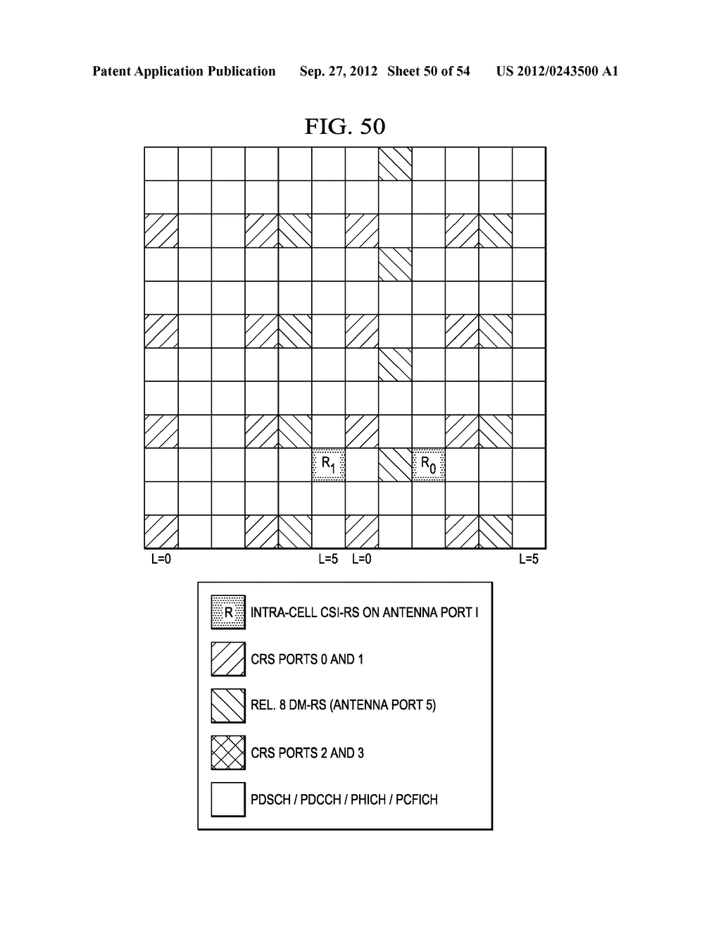 Multi-Cell Channel State Information-Reference Symbol Patterns for Long     Term Evolution Extended Cyclic Prefix and Code Division Multiplexing-Time     Multiplexing - diagram, schematic, and image 51