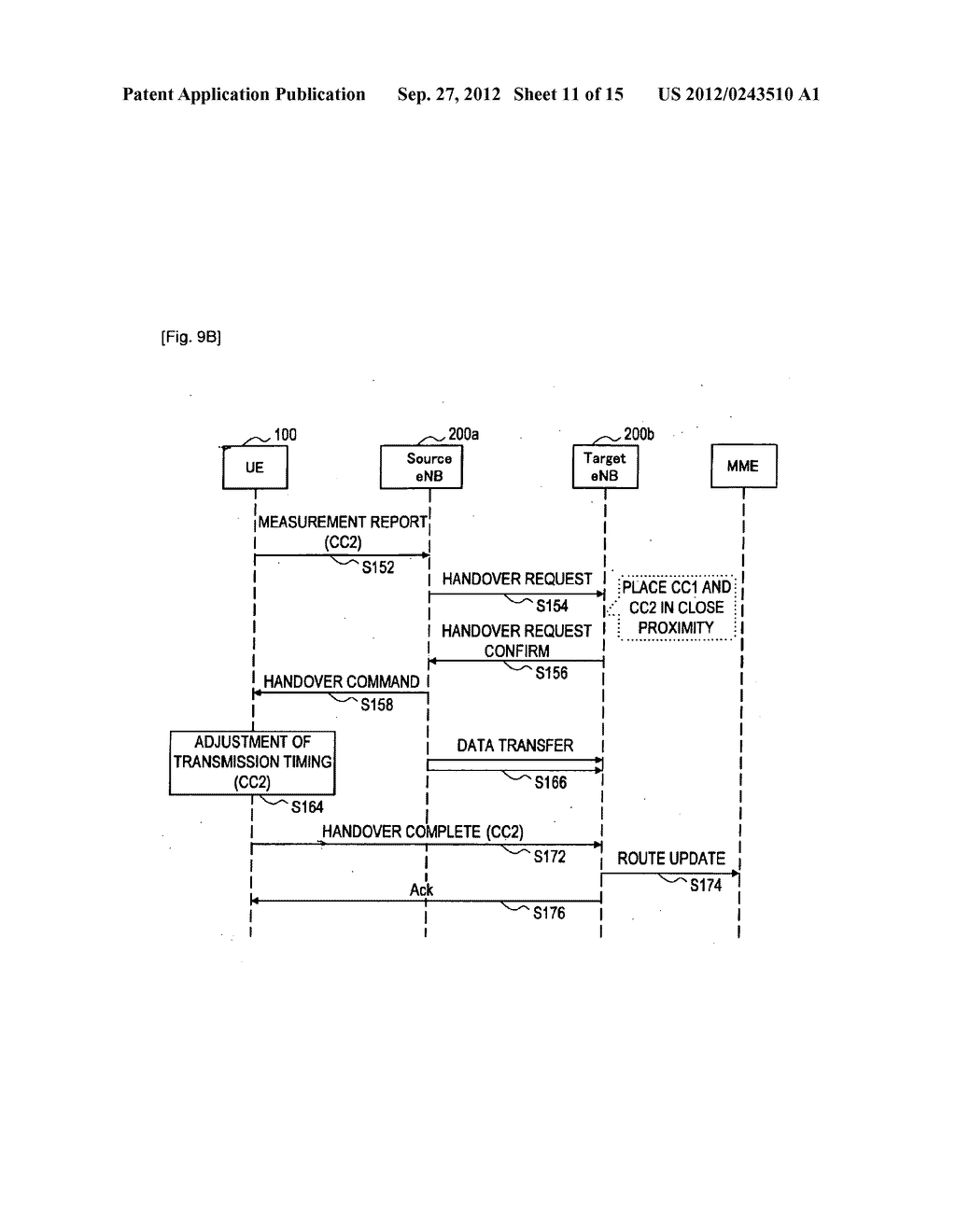 METHOD FOR PERFORMING HANDOVER, USER EQUIPMENT, AND RADIO COMMUNICATION     SYSTEM - diagram, schematic, and image 12