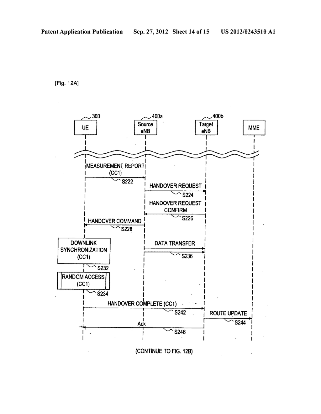 METHOD FOR PERFORMING HANDOVER, USER EQUIPMENT, AND RADIO COMMUNICATION     SYSTEM - diagram, schematic, and image 15