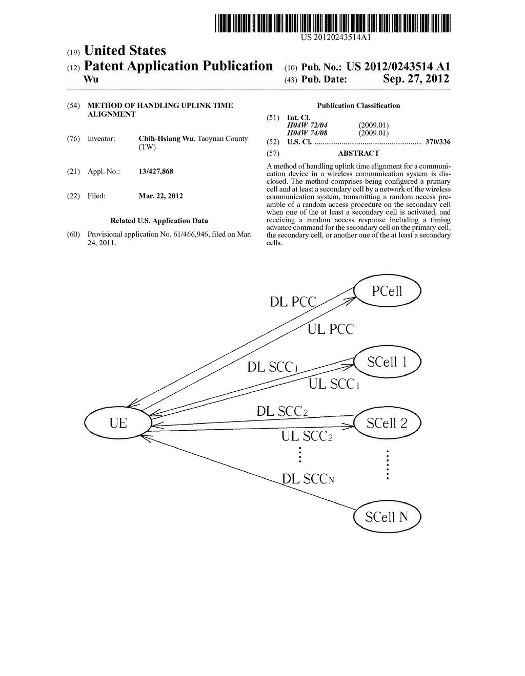 Method of Handling Uplink Time Alignment - diagram, schematic, and image 01