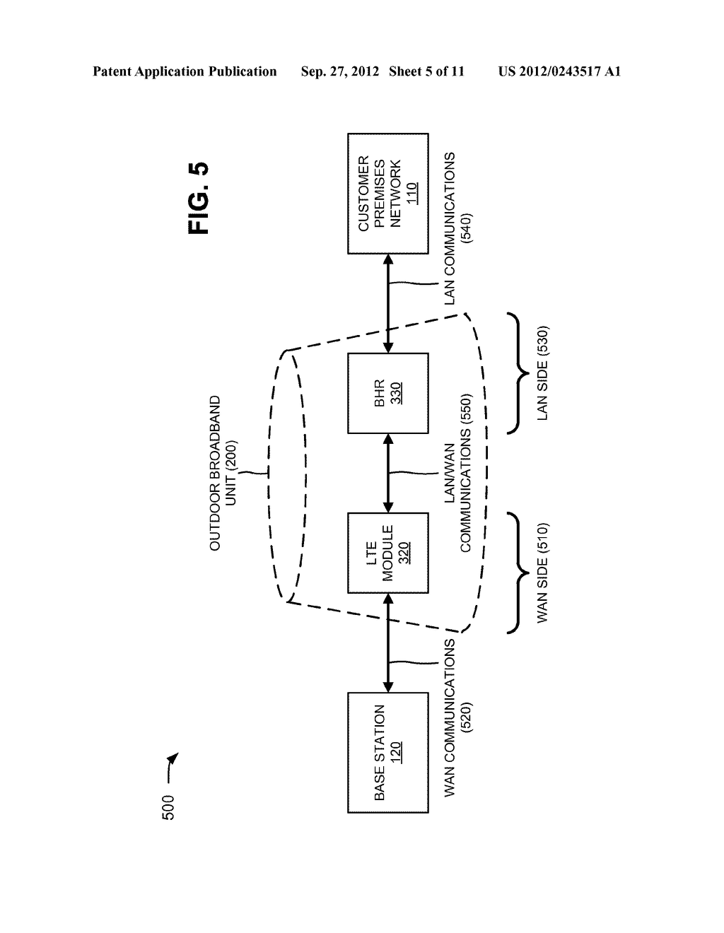 WIDE AREA NETWORK (WAN) AND LOCAL AREA NETWORK (LAN) COMMUNICATIONS FOR A     FIXED WIRELESS CPE - diagram, schematic, and image 06