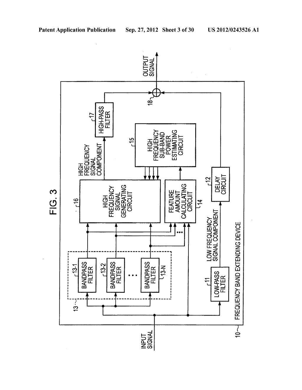 FREQUENCY BAND EXTENDING DEVICE AND METHOD, ENCODING DEVICE AND METHOD,     DECODING DEVICE AND METHOD, AND PROGRAM - diagram, schematic, and image 04