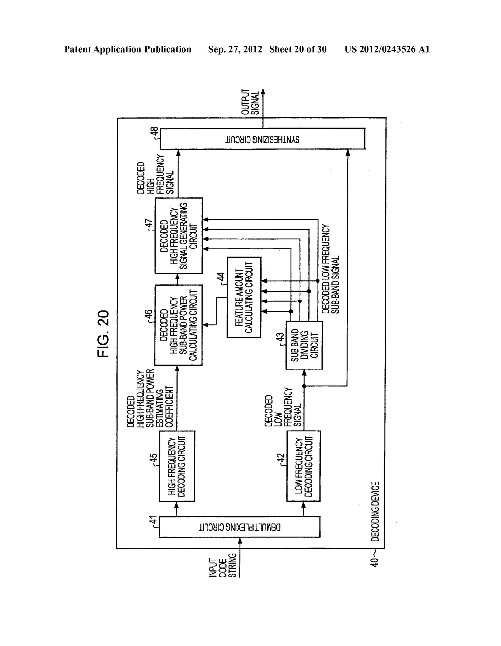 FREQUENCY BAND EXTENDING DEVICE AND METHOD, ENCODING DEVICE AND METHOD,     DECODING DEVICE AND METHOD, AND PROGRAM - diagram, schematic, and image 21