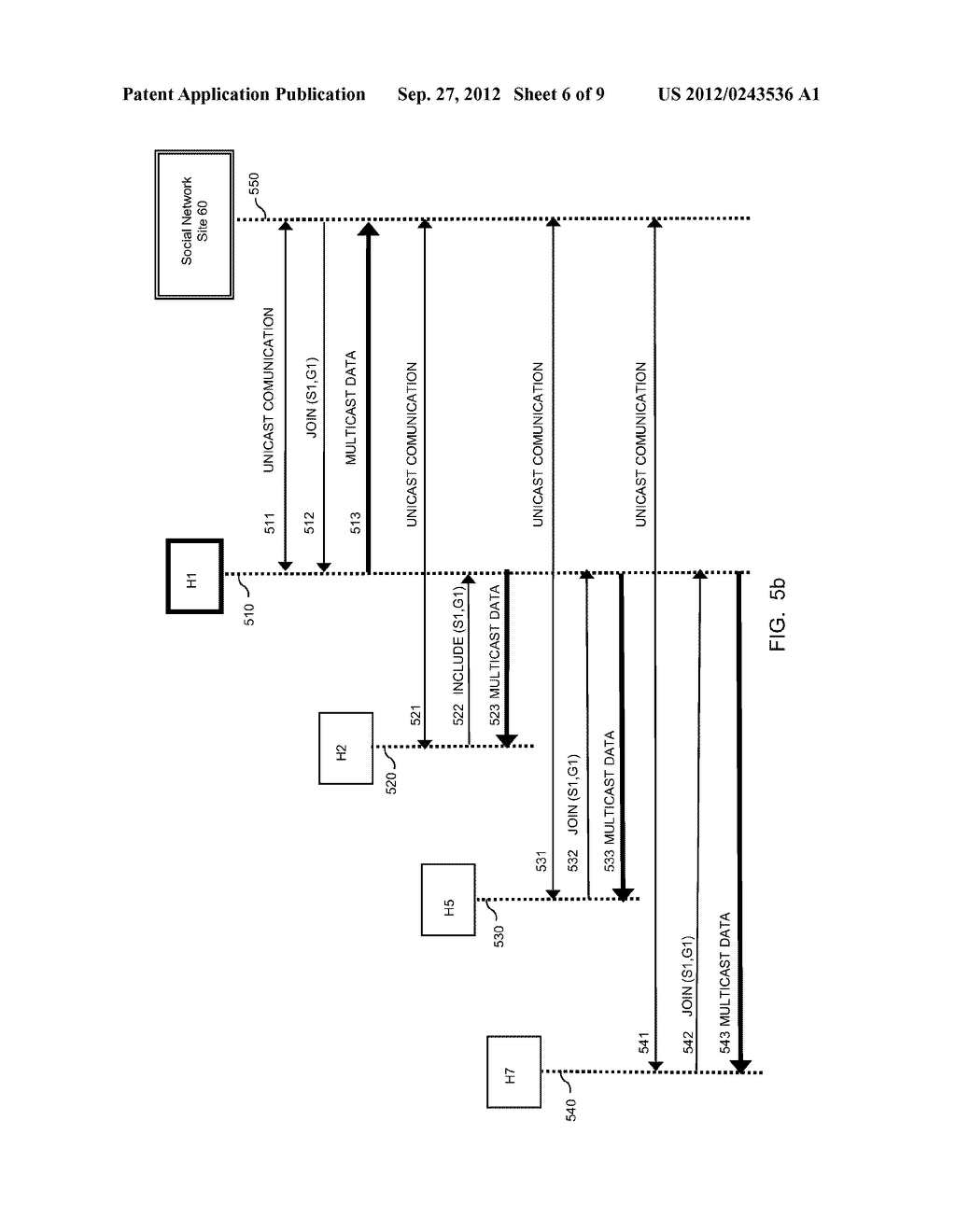 METHOD AND APPARATUS FOR TRANSMITTING AND RECEIVING MULTICAST DATA IN     SOCIAL NETWORKS - diagram, schematic, and image 07