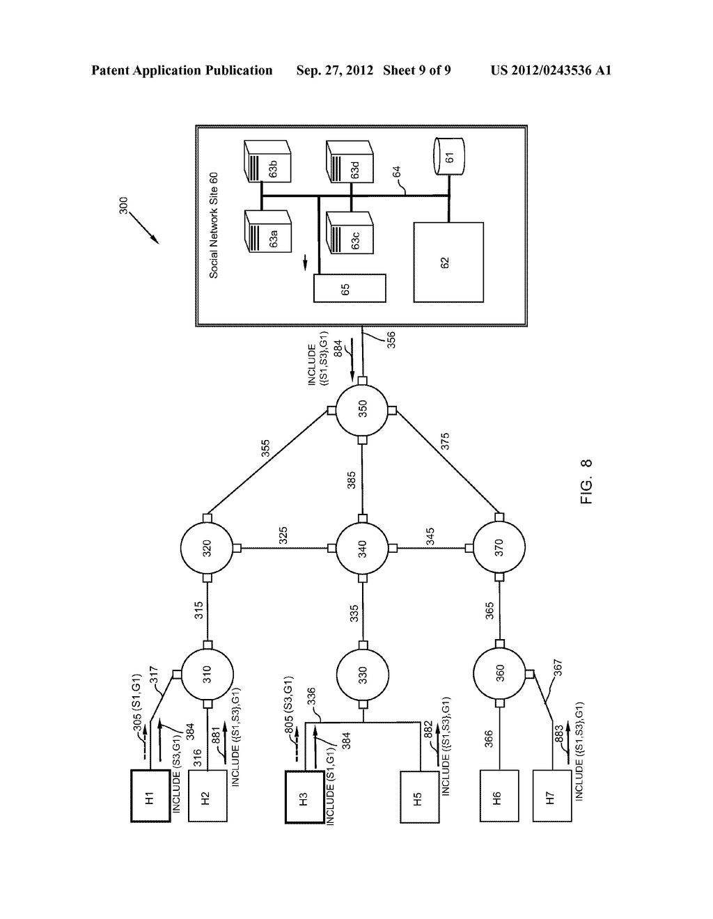 METHOD AND APPARATUS FOR TRANSMITTING AND RECEIVING MULTICAST DATA IN     SOCIAL NETWORKS - diagram, schematic, and image 10