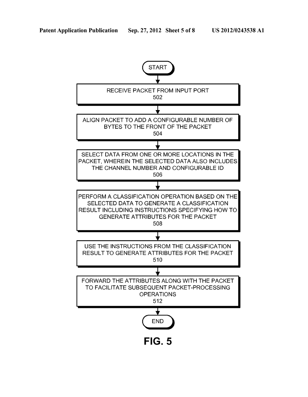 METHOD AND APPARATUS FOR PRE-CLASSIFYING PACKETS - diagram, schematic, and image 06