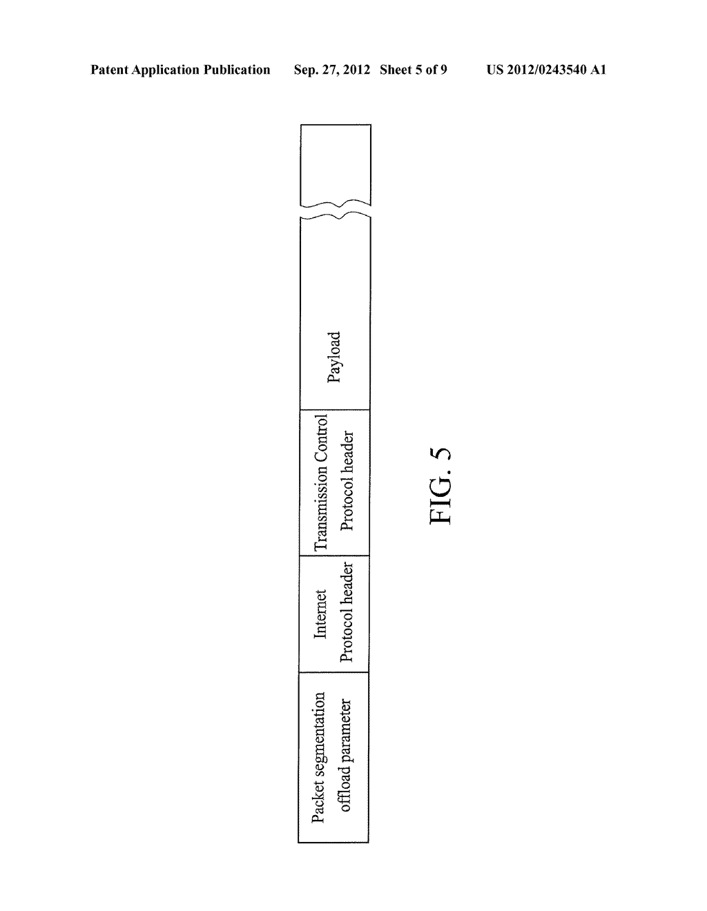 METHOD FOR OFFLOADING PACKET SEGMENTATIONS AND DEVICE USING THE SAME - diagram, schematic, and image 06