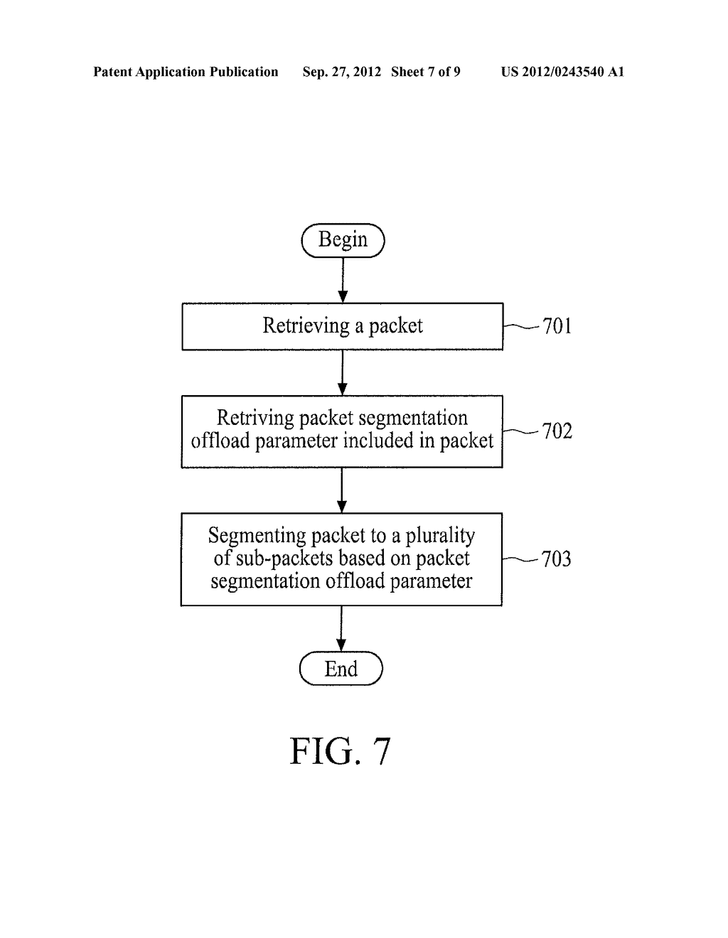 METHOD FOR OFFLOADING PACKET SEGMENTATIONS AND DEVICE USING THE SAME - diagram, schematic, and image 08