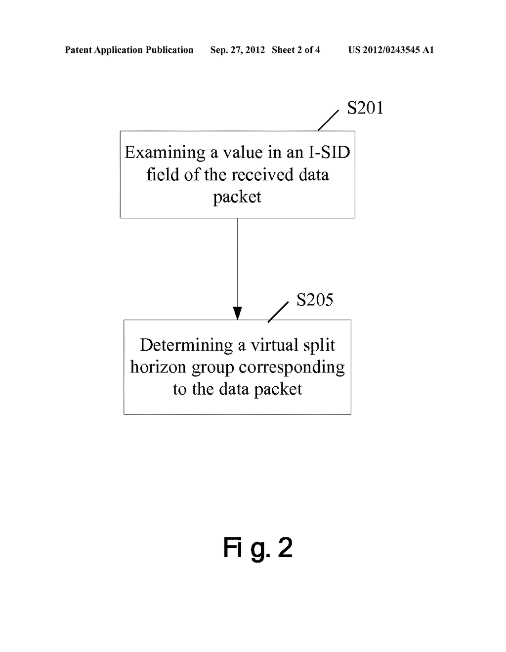 METHOD AND DEVICE FOR DETERMINING FORWARDING RULE FOR DATA PACKET - diagram, schematic, and image 03