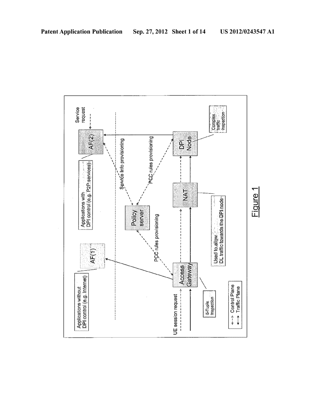 TOKEN-BASED CORRELATION OF CONTROL SESSIONS FOR POLICY AND CHARGING     CONTROL OF A DATA SESSION THROUGH A NAT - diagram, schematic, and image 02