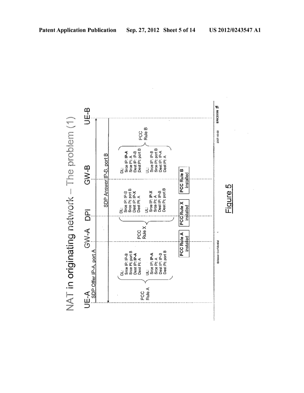 TOKEN-BASED CORRELATION OF CONTROL SESSIONS FOR POLICY AND CHARGING     CONTROL OF A DATA SESSION THROUGH A NAT - diagram, schematic, and image 06