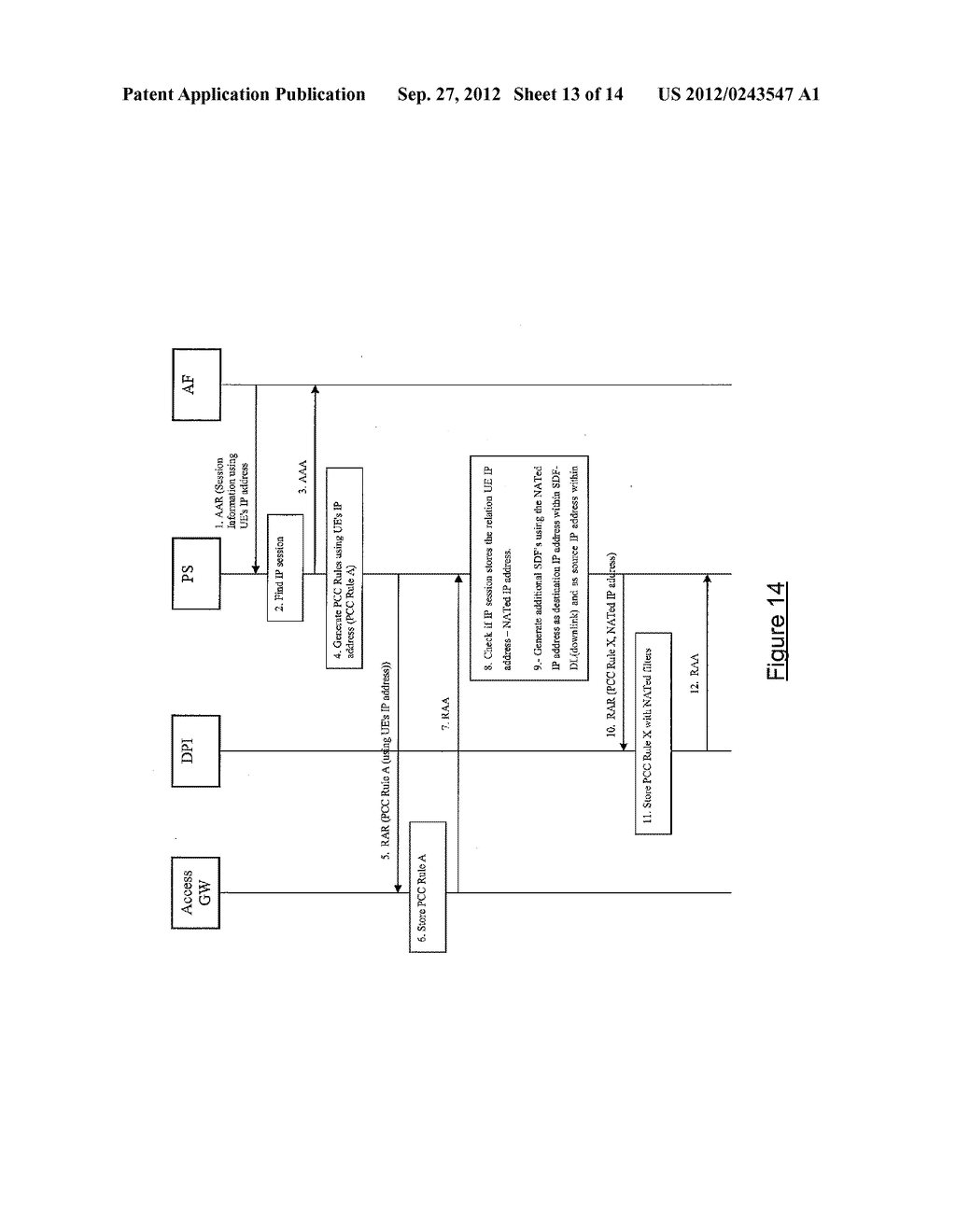 TOKEN-BASED CORRELATION OF CONTROL SESSIONS FOR POLICY AND CHARGING     CONTROL OF A DATA SESSION THROUGH A NAT - diagram, schematic, and image 14