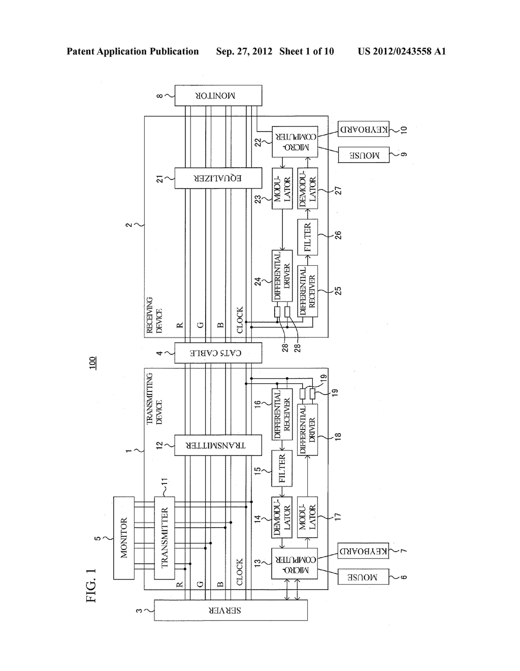 SIGNAL TRANSMISSION SYSTEM, SIGNAL TRANSMISSION METHOD, TRANSMITTING     DEVICE AND RECEIVING DEVICE - diagram, schematic, and image 02