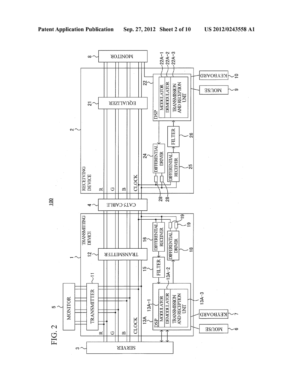 SIGNAL TRANSMISSION SYSTEM, SIGNAL TRANSMISSION METHOD, TRANSMITTING     DEVICE AND RECEIVING DEVICE - diagram, schematic, and image 03