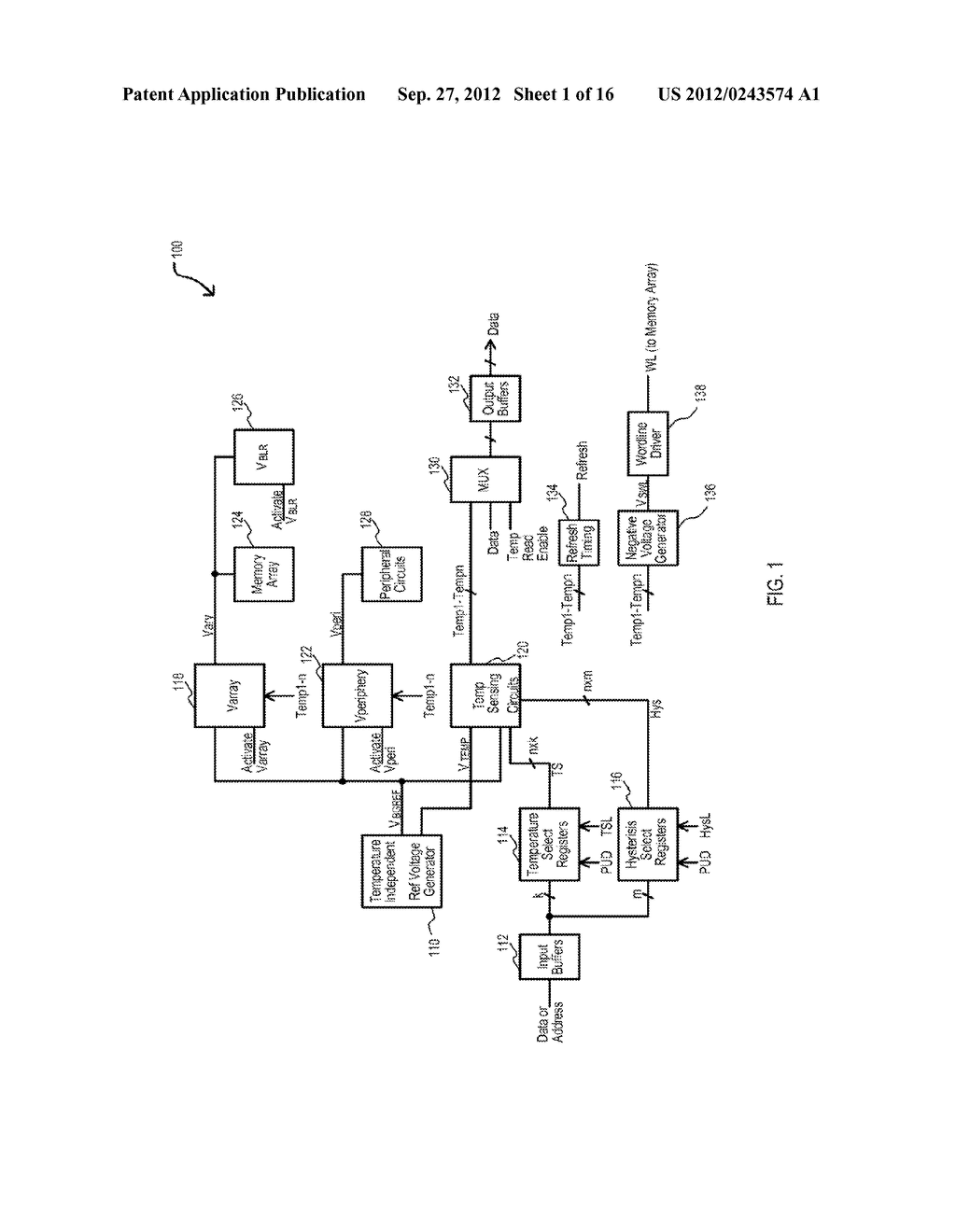 SEMICONDUCTOR DEVICE HAVING VARIABLE PARAMETER SELECTION BASED ON     TEMPERATURE AND TEST METHOD - diagram, schematic, and image 02