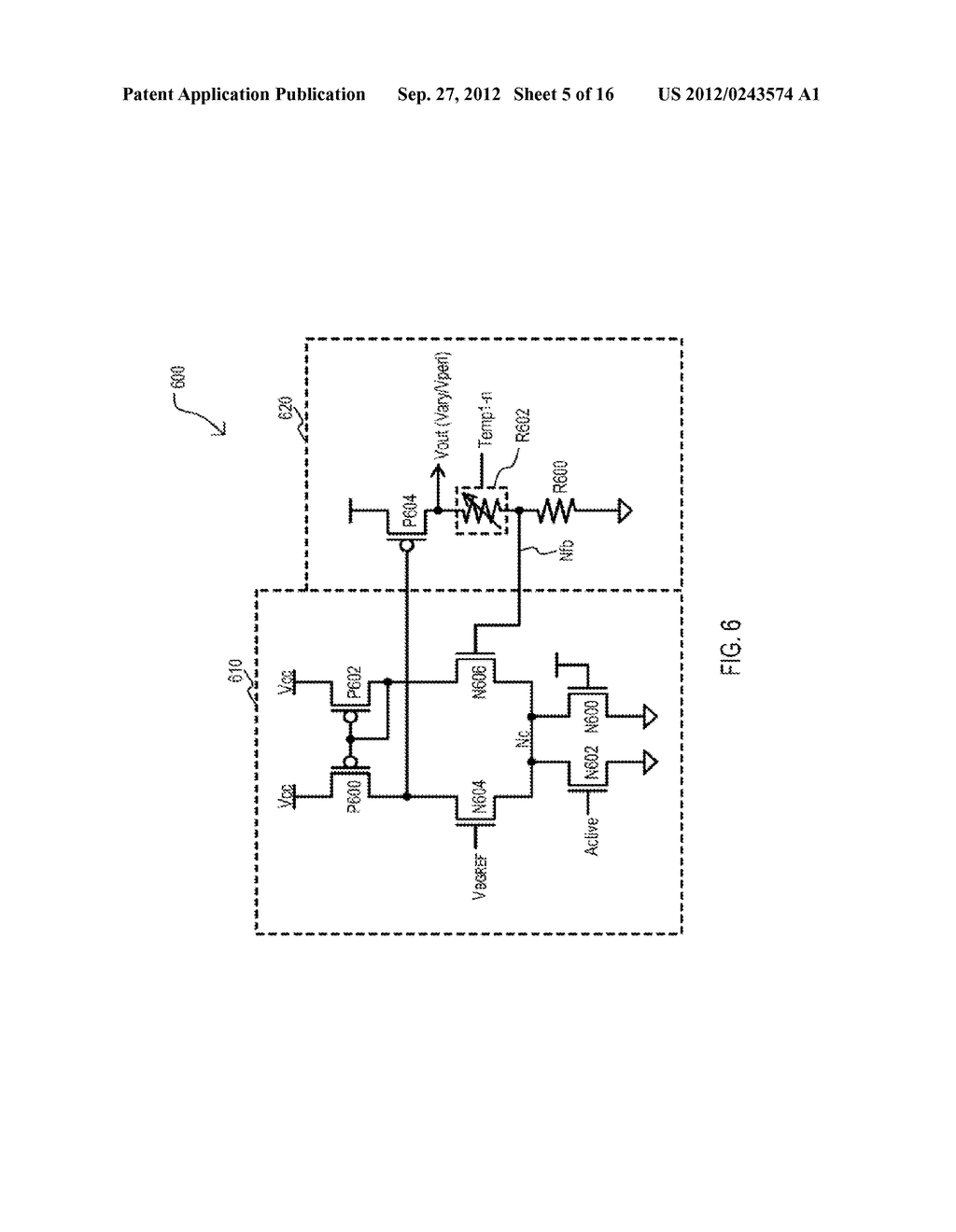 SEMICONDUCTOR DEVICE HAVING VARIABLE PARAMETER SELECTION BASED ON     TEMPERATURE AND TEST METHOD - diagram, schematic, and image 06