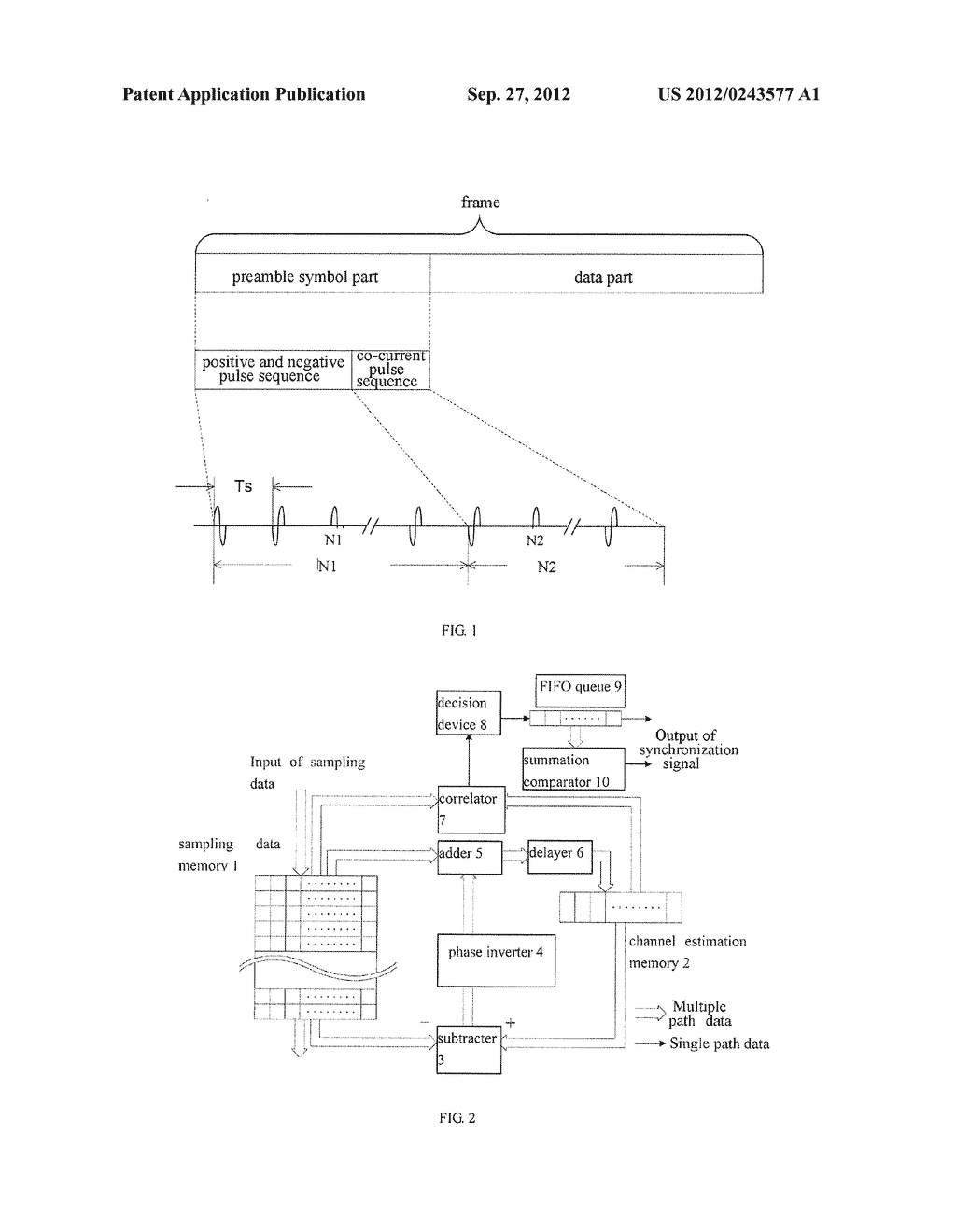 SYNCHRONIZATION METHOD FOR IMPULSE SYSTEM ULTRA-WIDEBAND - diagram, schematic, and image 02
