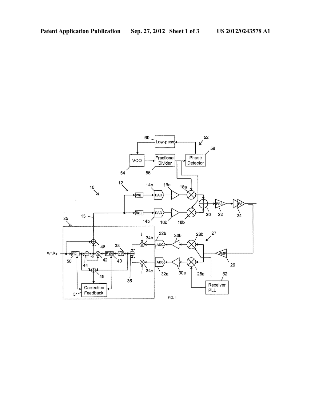 ELECTRONIC DEVICE WITH VCO PULLING COMPENSATION CIRCUIT FOR AN INPUT     BASEBAND SIGNAL AND ASSOCIATED METHODS - diagram, schematic, and image 02