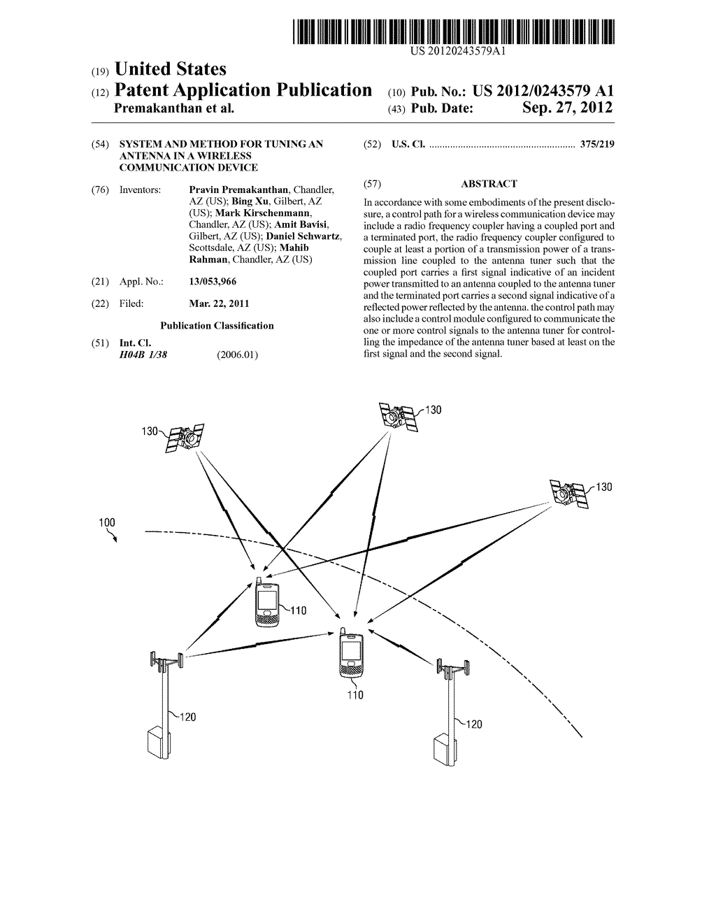 System and Method for Tuning an Antenna In a Wireless Communication Device - diagram, schematic, and image 01