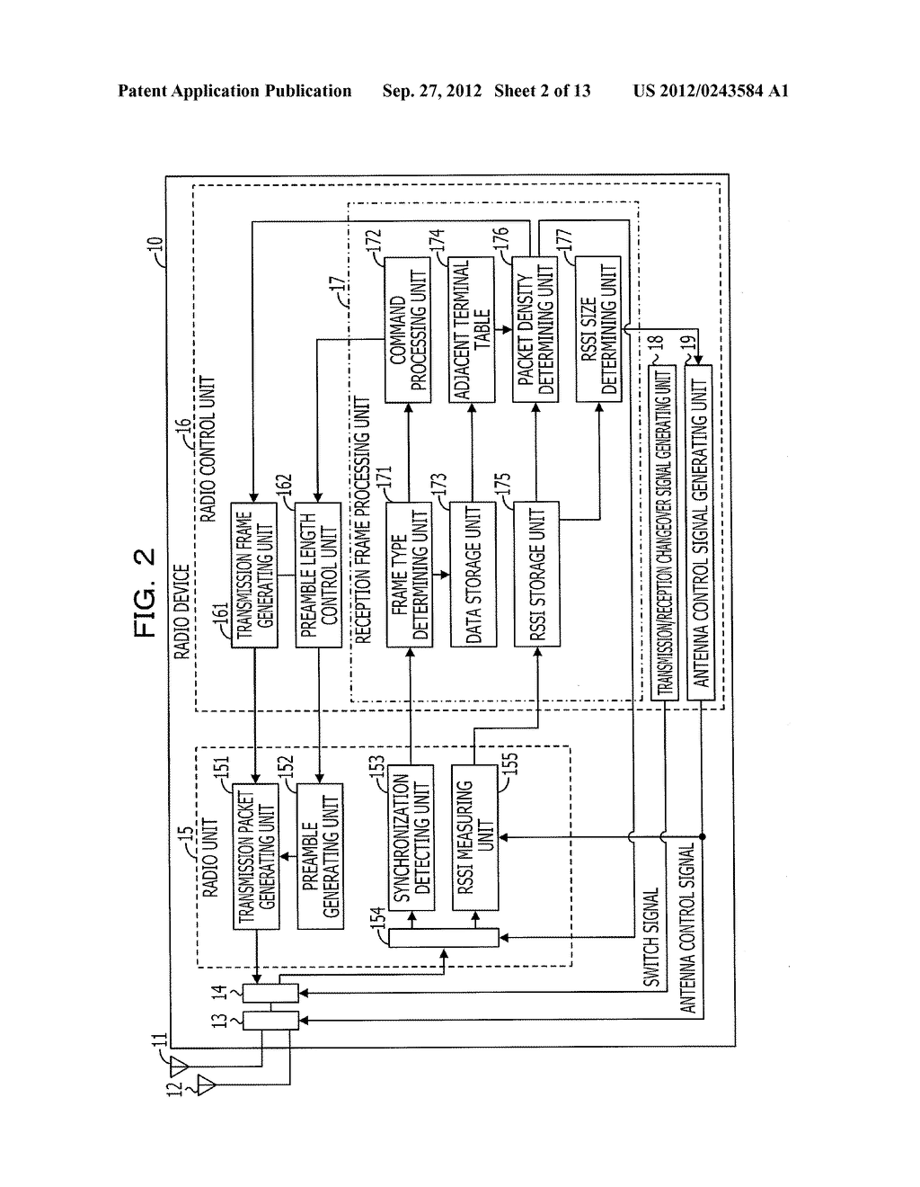 RADIO DEVICE, COMMUNICATION CONTROL METHOD, AND RADIO COMMUNICATION SYSTEM - diagram, schematic, and image 03