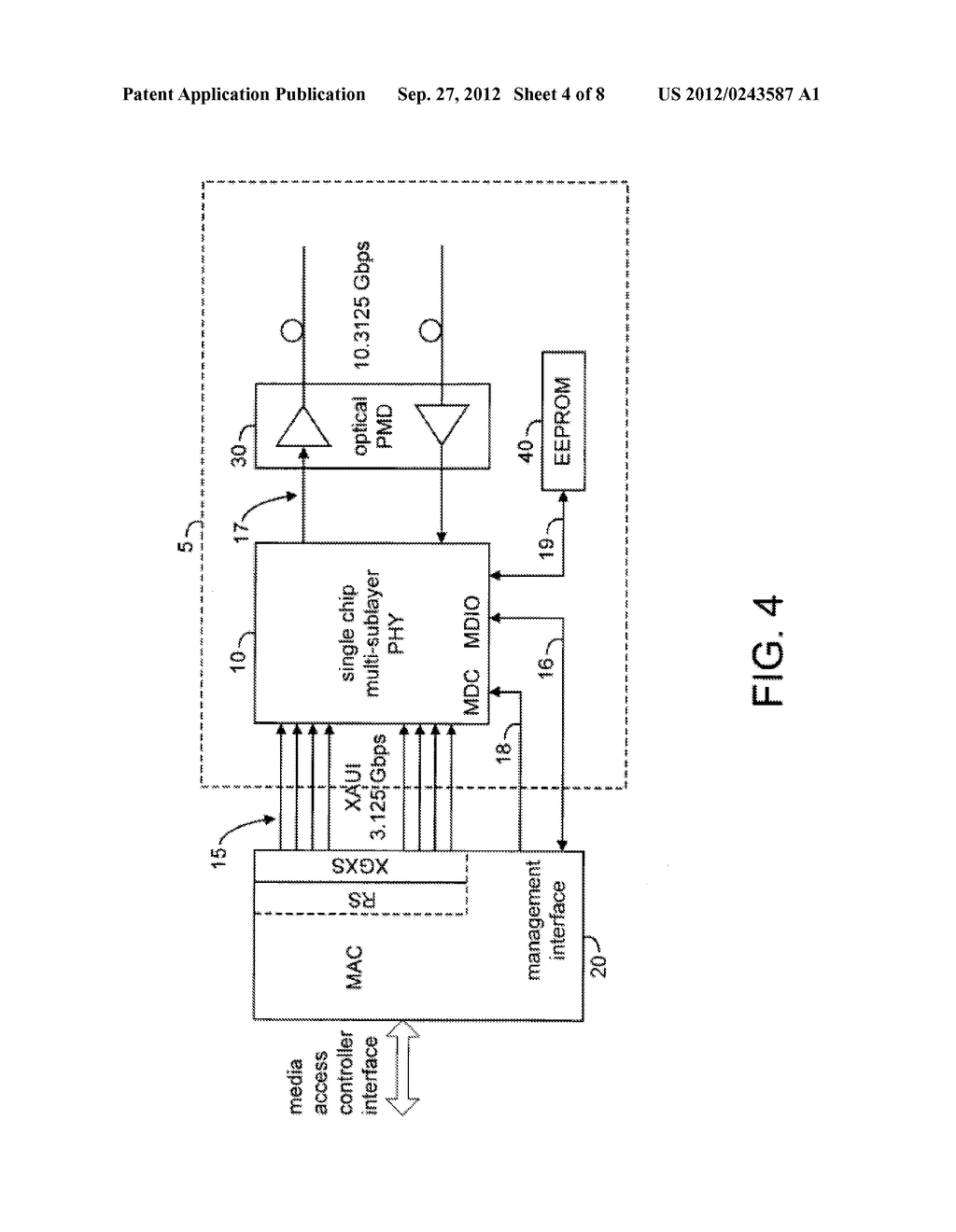 System and Method for Implementing a Single Chip Having a Multiple     Sub-Layer PHY - diagram, schematic, and image 05