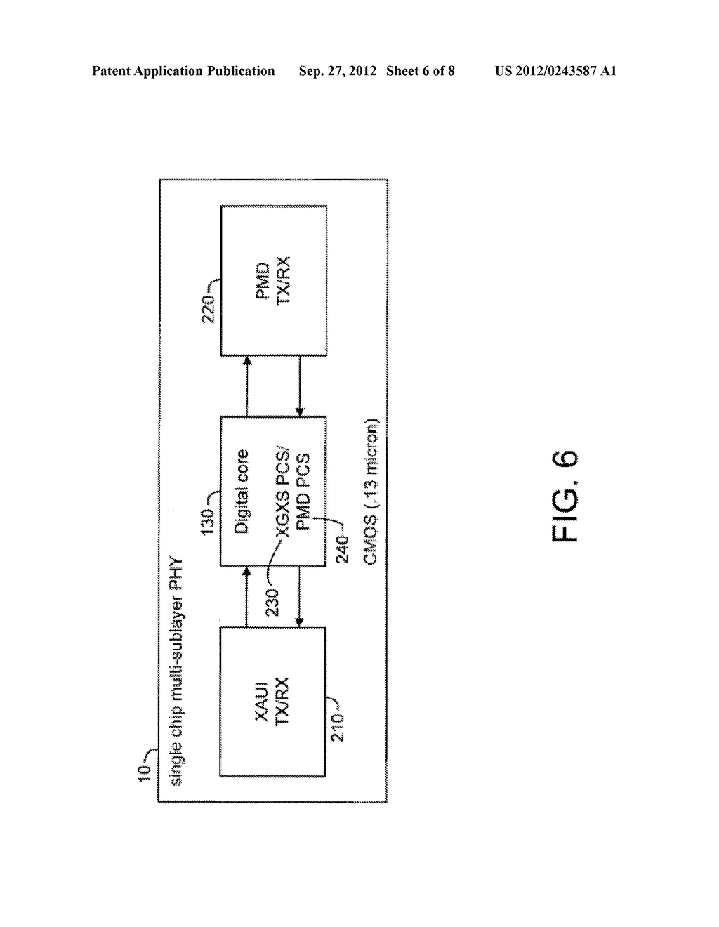 System and Method for Implementing a Single Chip Having a Multiple     Sub-Layer PHY - diagram, schematic, and image 07