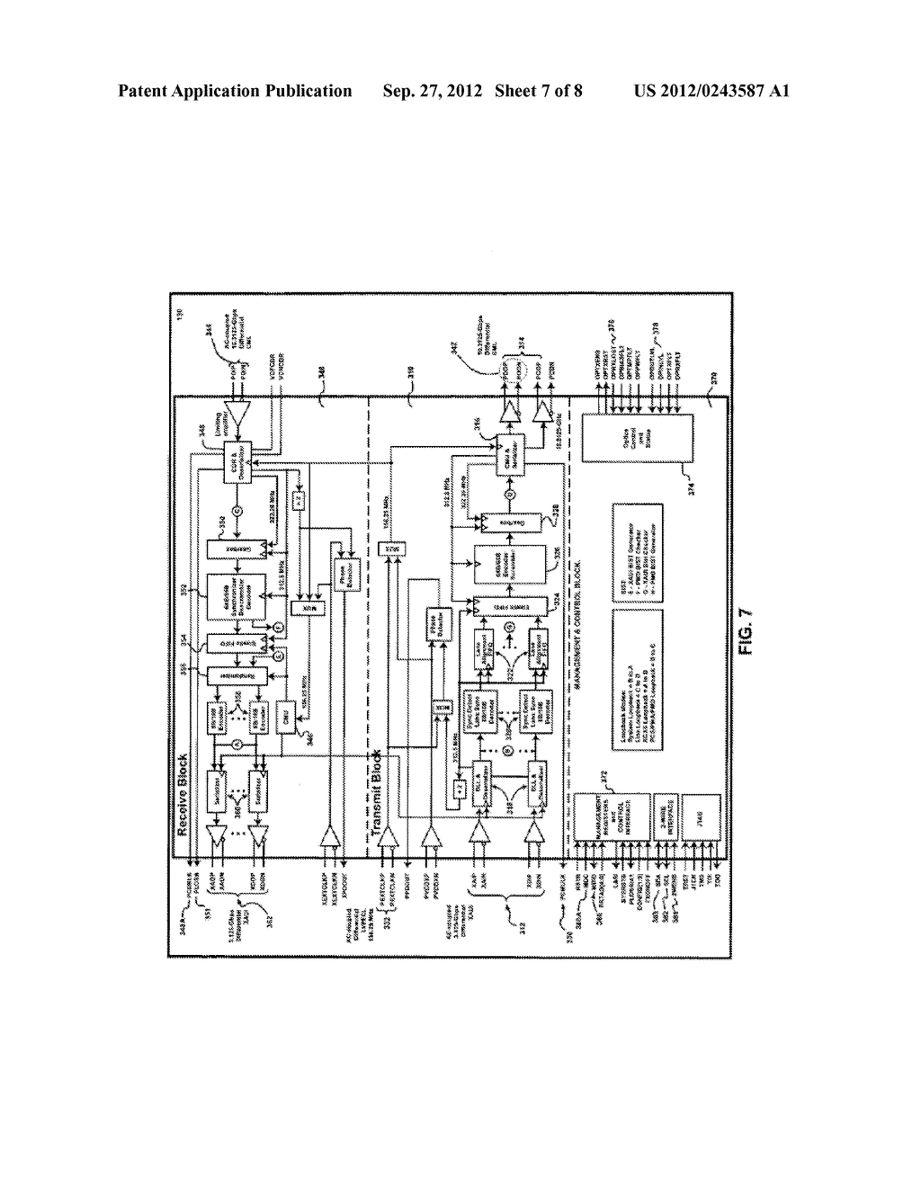 System and Method for Implementing a Single Chip Having a Multiple     Sub-Layer PHY - diagram, schematic, and image 08