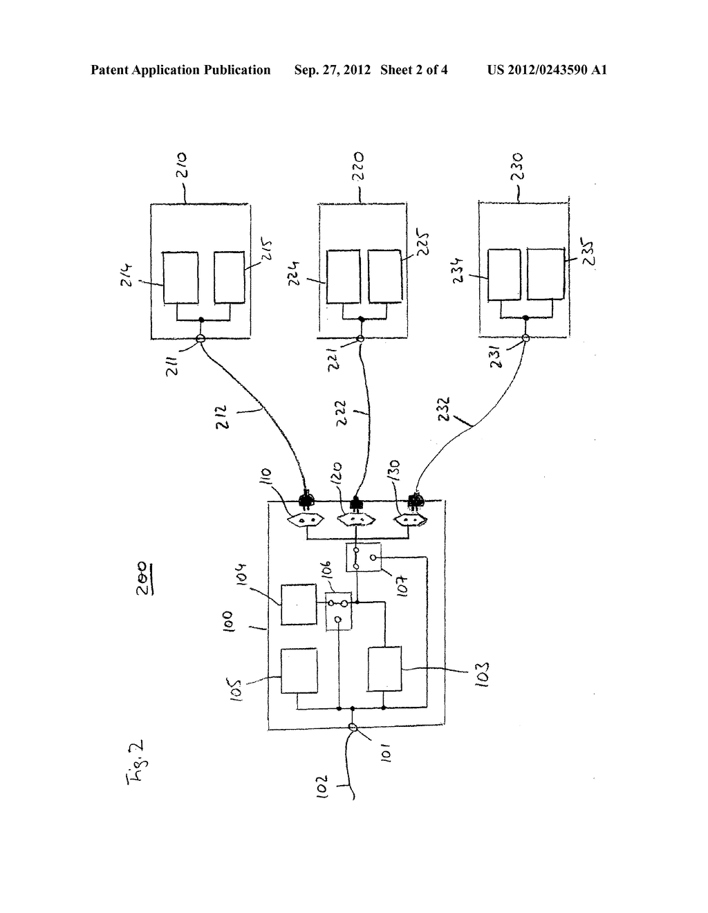 DEVICE FOR USE IN A POWER LINE COMMUNICATION SYSTEM, POWER LINE     COMMUNICATION SYSTEMS AND POWER LINE COMMUNICATION METHOD - diagram, schematic, and image 03