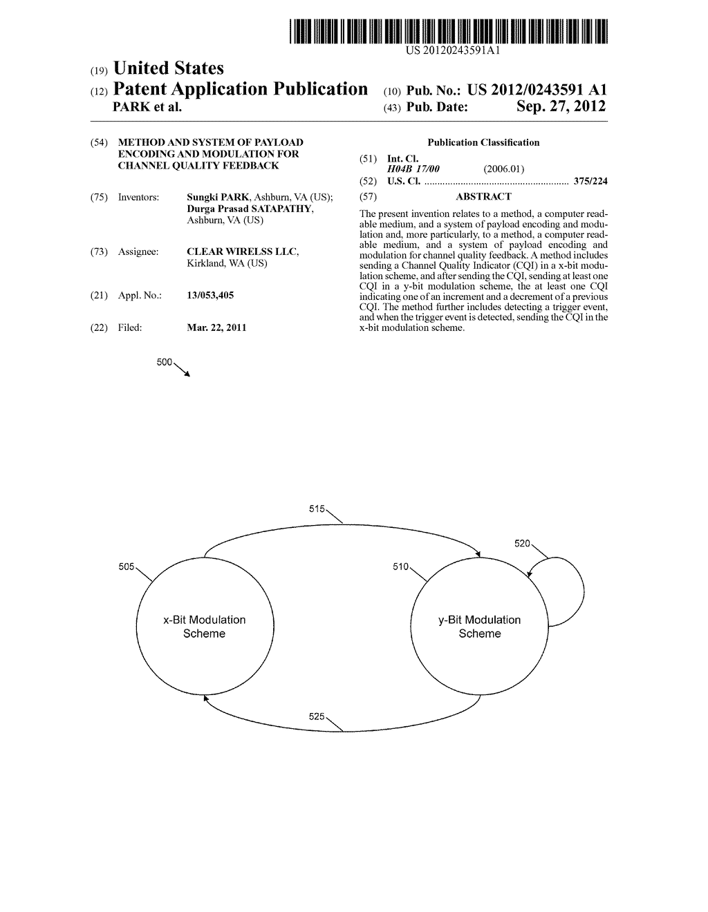 METHOD AND SYSTEM OF PAYLOAD ENCODING AND MODULATION FOR CHANNEL QUALITY     FEEDBACK - diagram, schematic, and image 01