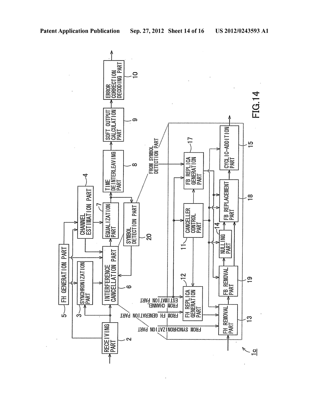 RECEIVING APPARATUS AND RECEIVING METHOD - diagram, schematic, and image 15