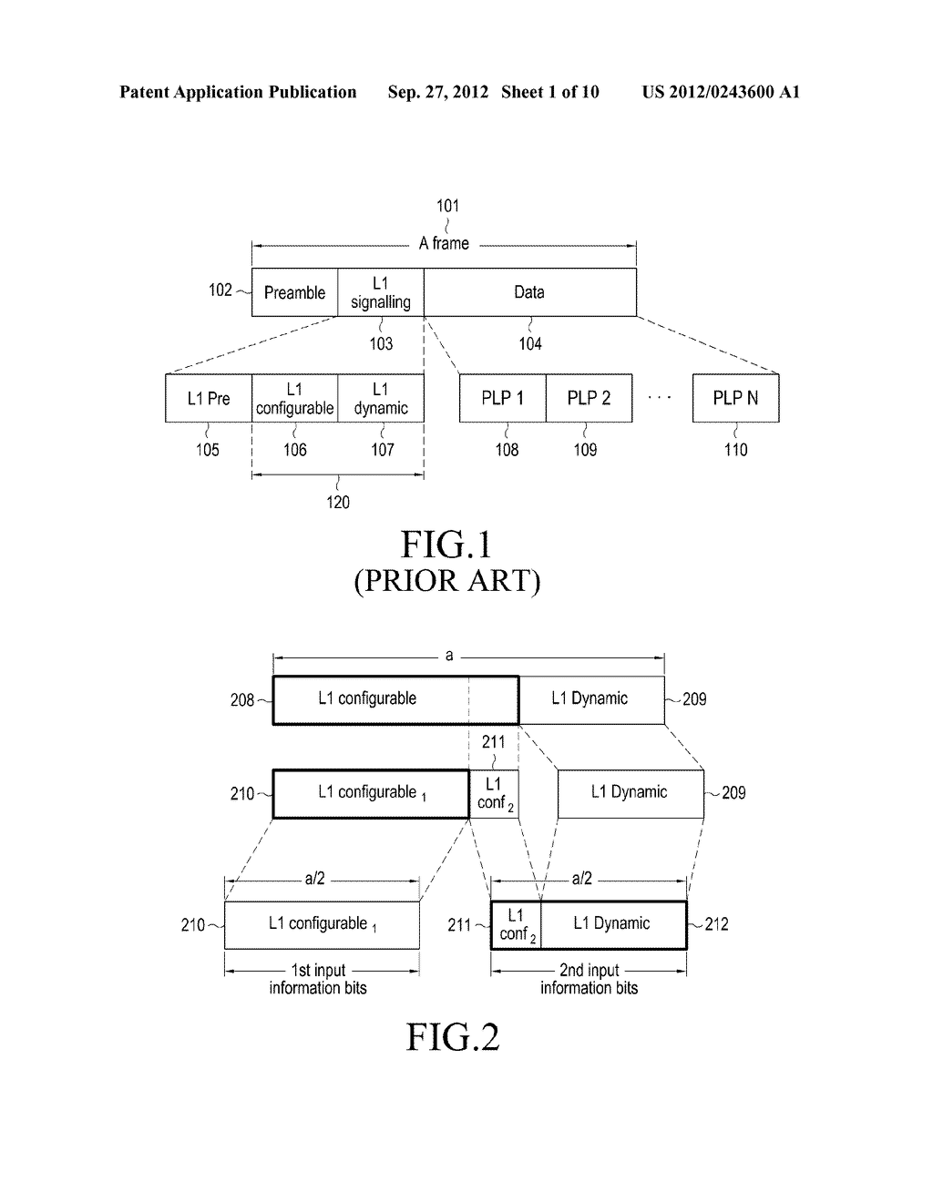 METHOD AND APPARATUS FOR TRANSMITTING AND RECEIVING CONTROL INFORMATION IN     A BROADCASTING/COMMUNICATION SYSTEM - diagram, schematic, and image 02