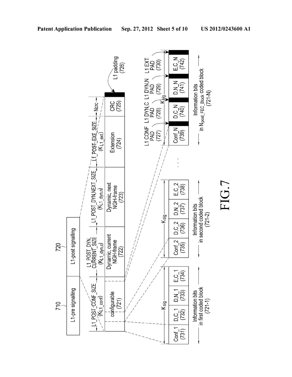 METHOD AND APPARATUS FOR TRANSMITTING AND RECEIVING CONTROL INFORMATION IN     A BROADCASTING/COMMUNICATION SYSTEM - diagram, schematic, and image 06