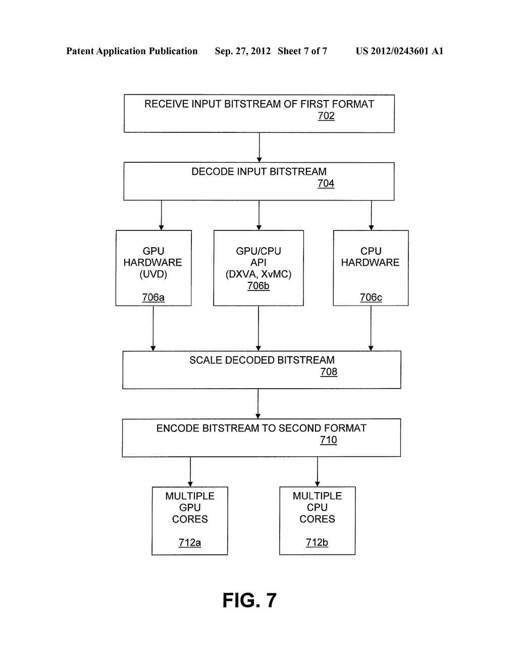 SOFTWARE VIDEO TRANSCODER WITH GPU ACCELERATION - diagram, schematic, and image 08