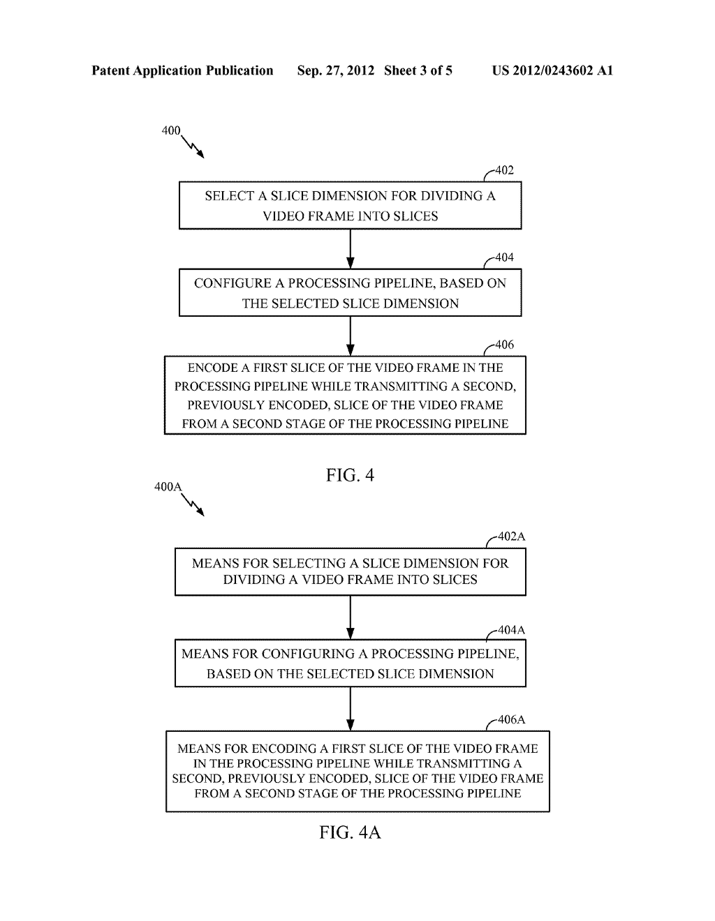 METHOD AND APPARATUS FOR PIPELINED SLICING FOR WIRELESS DISPLAY - diagram, schematic, and image 04