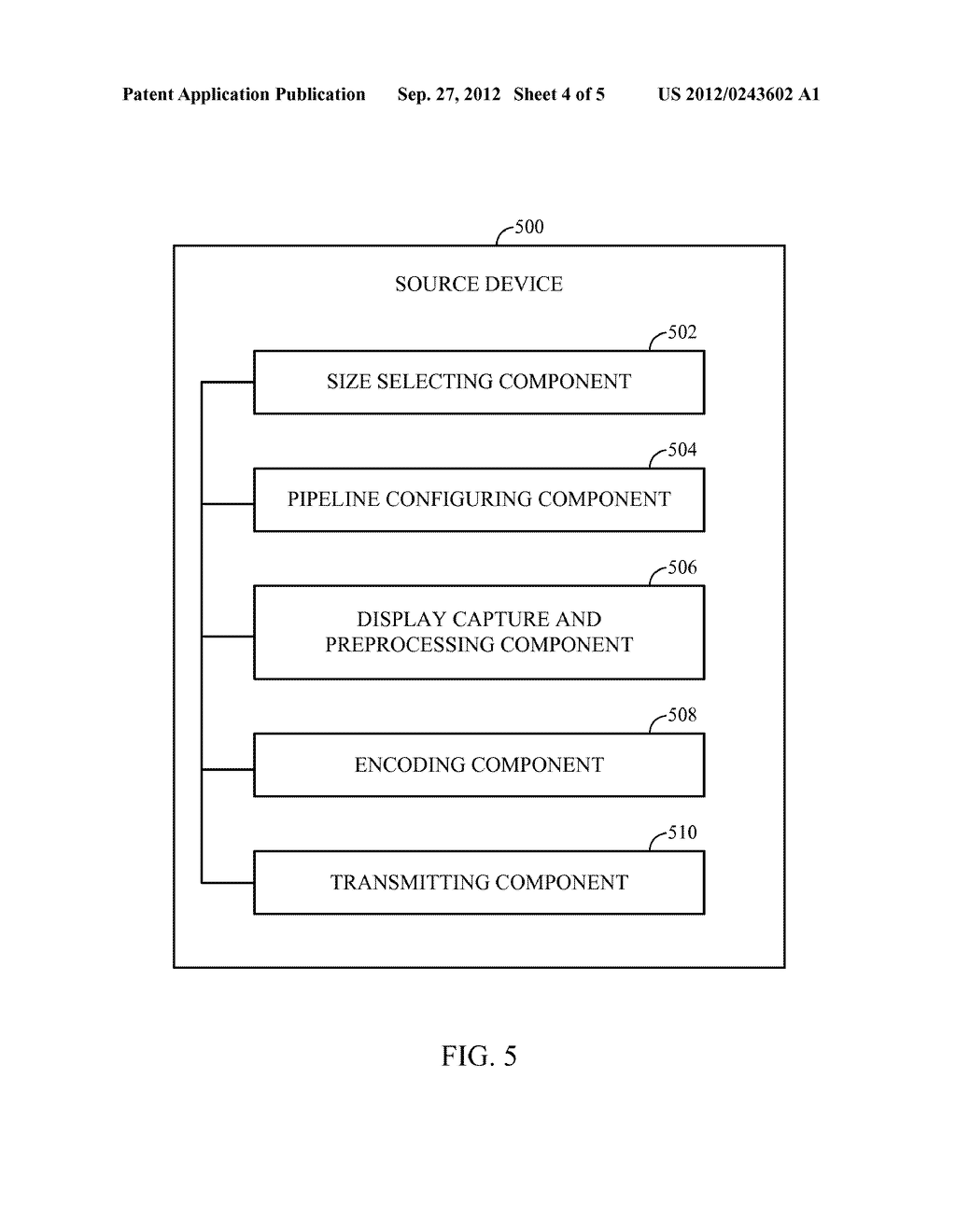 METHOD AND APPARATUS FOR PIPELINED SLICING FOR WIRELESS DISPLAY - diagram, schematic, and image 05