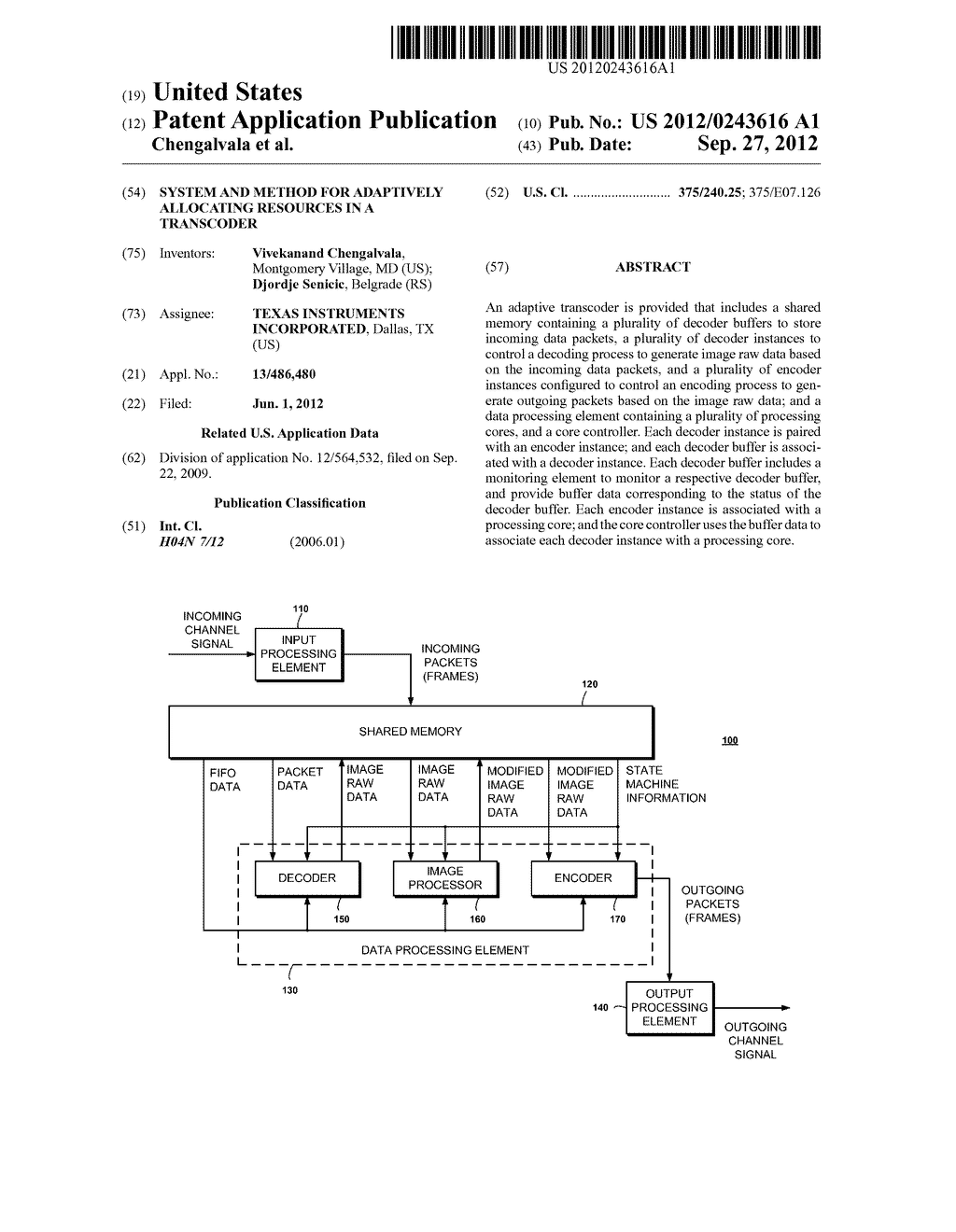 System and Method for Adaptively Allocating Resources in a Transcoder - diagram, schematic, and image 01