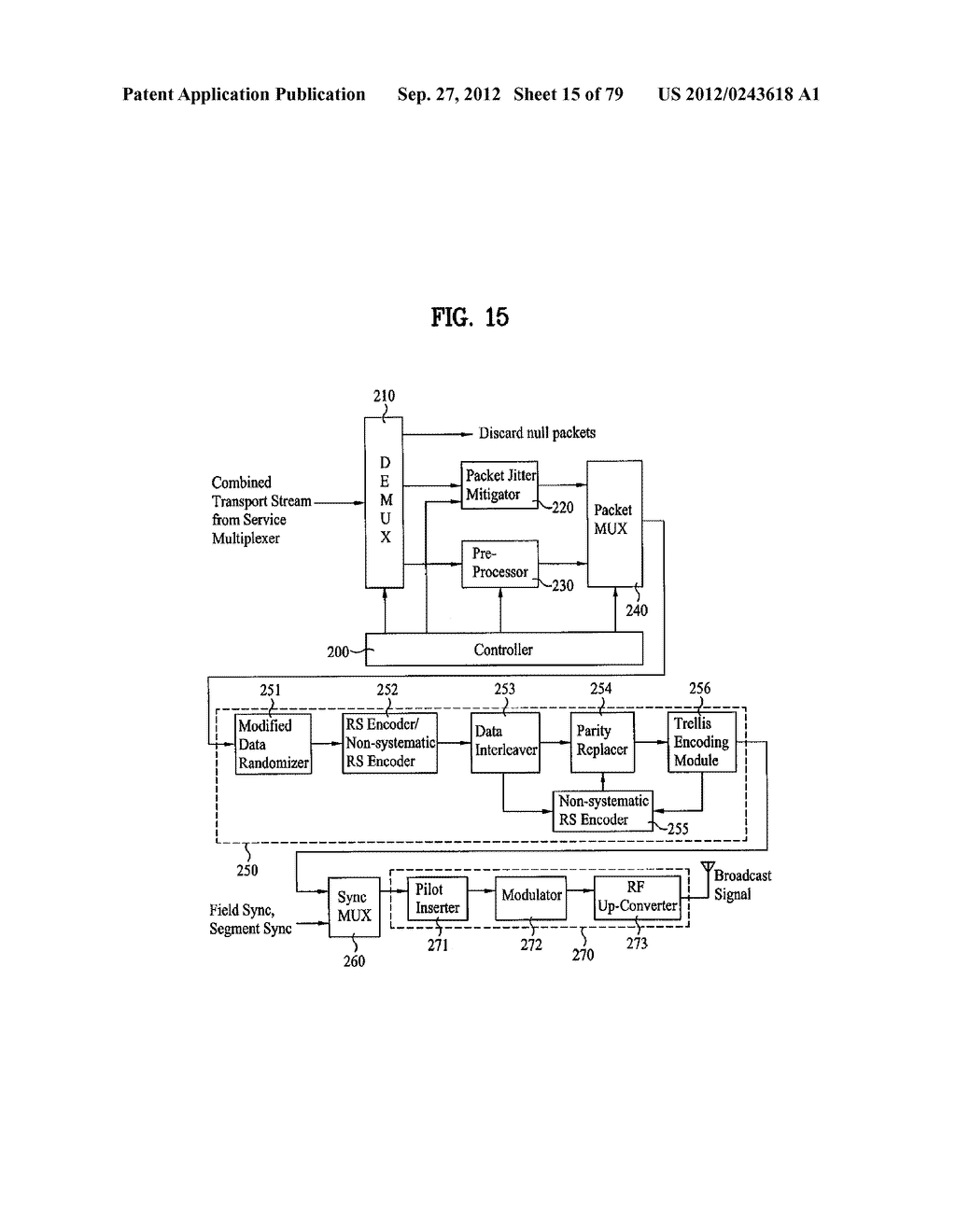 DIGITAL BROADCASTING SYSTEM AND DATA PROCESSING METHOD - diagram, schematic, and image 16