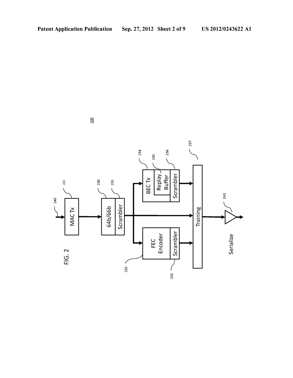 METHOD AND APPARATUS FOR IMPROVING THE ERROR RATE OF A SERIAL/DE-SERIAL     BACKPLANE CONNECTION - diagram, schematic, and image 03