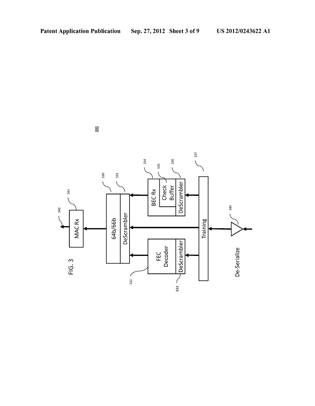 METHOD AND APPARATUS FOR IMPROVING THE ERROR RATE OF A SERIAL/DE-SERIAL     BACKPLANE CONNECTION - diagram, schematic, and image 04