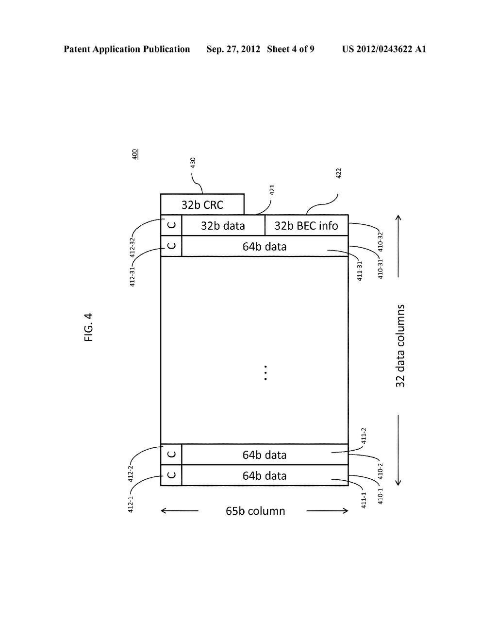 METHOD AND APPARATUS FOR IMPROVING THE ERROR RATE OF A SERIAL/DE-SERIAL     BACKPLANE CONNECTION - diagram, schematic, and image 05