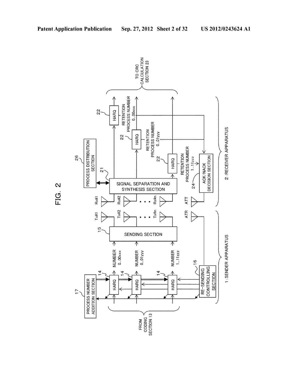 TRANSMISSION CONTROLLING METHOD, SENDER APPARATUS AND RECEIVER APPARATUS     FOR WIRELESS COMMUNICATION SYSTEM - diagram, schematic, and image 03