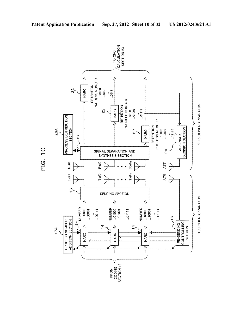 TRANSMISSION CONTROLLING METHOD, SENDER APPARATUS AND RECEIVER APPARATUS     FOR WIRELESS COMMUNICATION SYSTEM - diagram, schematic, and image 11