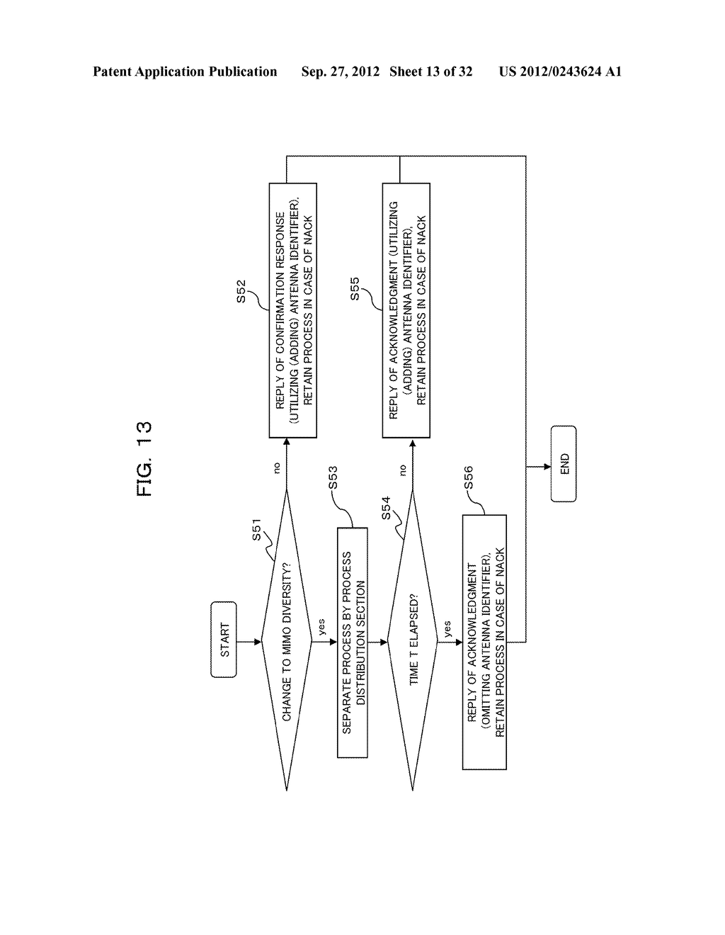 TRANSMISSION CONTROLLING METHOD, SENDER APPARATUS AND RECEIVER APPARATUS     FOR WIRELESS COMMUNICATION SYSTEM - diagram, schematic, and image 14